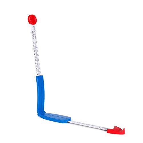 plus12: Fuß- und Innenschuhmessgerät, Schuhgrößen- und Millimeterskala, Größe 18-45